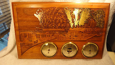Expo 86 Laser art Carving thermometer hygrometer variable change gauges