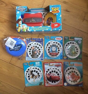 Job Lot Of 3D View Master Optical Toy  With  Disks & Case - Brand New