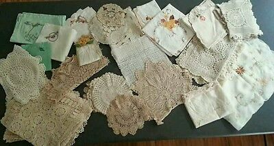 crochet lace Doilies,  runners and table cloths