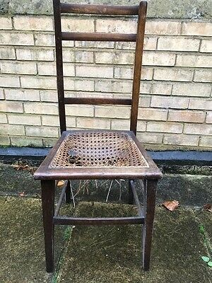 Edwardian Wicker and wood chair
