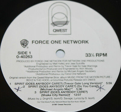 "FORCE ONE NETWORK * SPIRIT * Classic Soul Funk Boogie 12"" Vinyl"