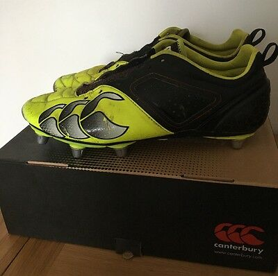 Canterbury phoenix elite mens rugby boots size 9 black & yellow