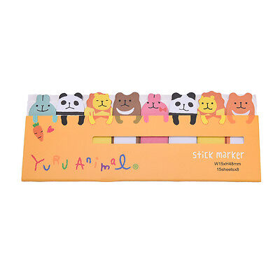 Cute Animals Sticker Bookmark Marker Memo Flags Index Tab Sticky Notes IUJ