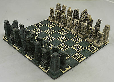 Superb & Rare Vintage Gothic Chess Board/Set. Scarce and Highly Collectable.