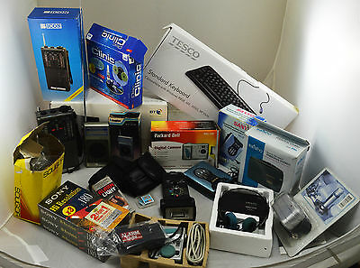 Job Lot of Consumer Electronics -  New - Sony, CB Radio, Cassette Players Camera