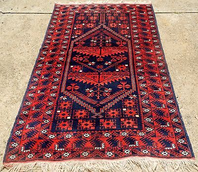 OLD TURKISH ORIENTAL RUG EXCELLENT CONDITION RICH BOLD COLORS SIZE 3' 10 x 6'