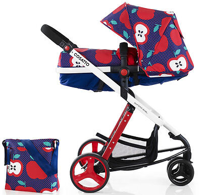 New Cosatto woop 2 in 1 pram & pushchair apple seed with bag footmuff & pvc
