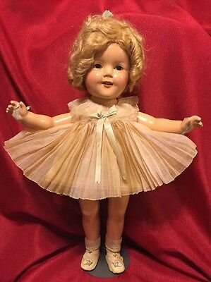 """CA 1935 Shirley Temple Doll """"Baby Take a Bow"""" Pleated Party Dress NRA Tag 20"""""""