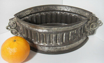 ANTIQUE FRENCH METAL PIE CRUST MOLD MOULD COMPLETE 19cm