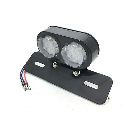 Led Motorbike Double Rear Round Clear Tail/light/brake Number Plate Item H001