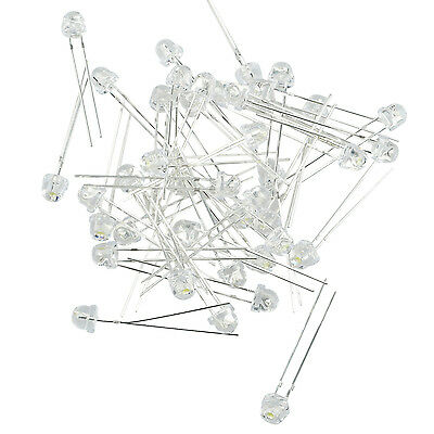 40 Pcs 3V LED blanche 5mm tete ronde diodes electroluminescentes WT