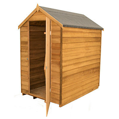 6x4 DIP TREATED WINDOWLESS WOODEN GARDEN SHED 6ft x 4ft APEX SECURITY WOOD TOOL