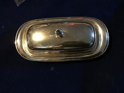 Silver Plate Covered Butter Dish