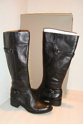 1cbc9f679b2 EASY SPIRIT WOMENS NWB Labarca Black Leather Boots Shoes 5.5 MED NEW ...