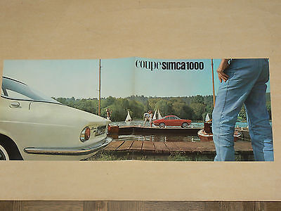 Prospectus COUPE SIMCA 1000  catalogue, prospekt, brochure car