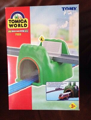 TOMICA WORLD ROAD & RAIL SYSTEM.  ROAD AND RAIL TUNNEL. Boxed. Thomas & Friends