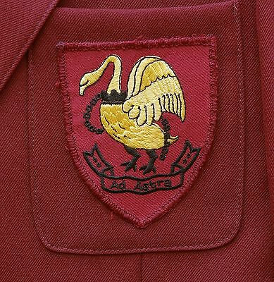 "Slough Grammar School Girls Blazer with Embroidered Badge 33"" *EXCELLENT* Maroon"
