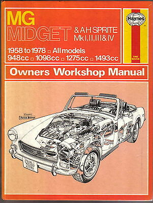 MG Midget & Austin Healey Sprite Mk 1, 2 ,3 & 4  Haynes Workshop Manual