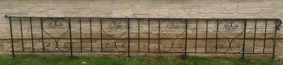 Wrought Iron Railing 13ft wide x 2ft high - VERY HEAVY Collection Rotherham S60