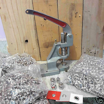 Press Machine For Fixing Eyelets Garments And Stationary With Three Dies Craft