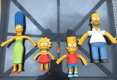The Simpsons Play Figures Marge, Homer, Bart And Lisa