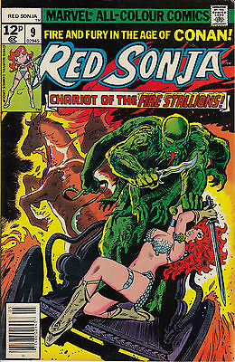 RED SONJA 9...VF/VF+...1978...Roy Thomas,Frank Thorne...Bargain!