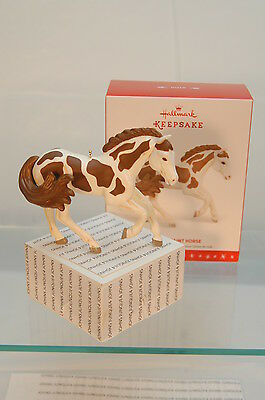 American Paint Horse~2016 Hallmark Ornament~Brown & White Horse~Free Ship In Us
