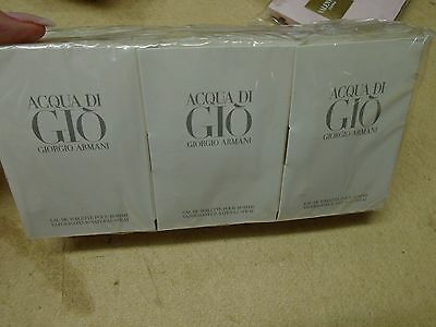 Job Lot 12 X 1.2Ml  Samples Acqua Di Gio Pour Homme Mens Aftershave Vials