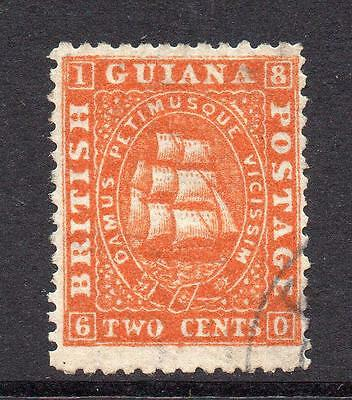 British Guiana 2 Cent Stamp c1862-65 Used SG58 (with wmk)