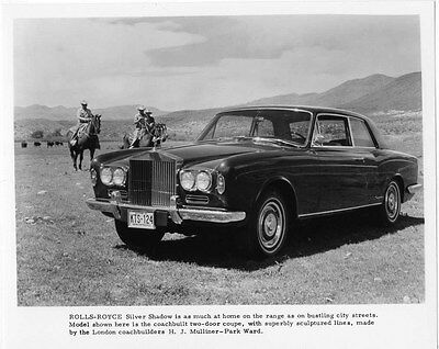 1969 Rolls Royce Silver Shadow 2 Door Coupe ORIGINAL Factory Photo ouc1484