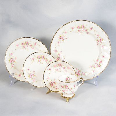 """3 Paragon """"victoriana Rose"""" 5Pc Place Settings"""