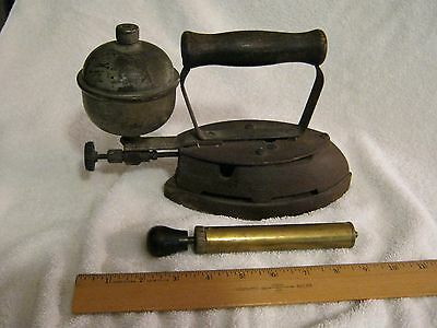 Antique Clothes Iron ... by Coleman  (w/Pump Assembly.)