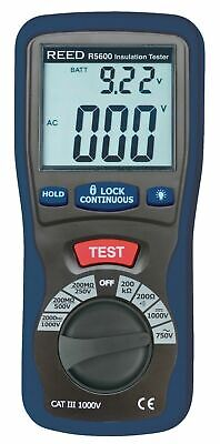 REED R5600 Insulation Tester. Test Voltages of 250, 500 or 1000V.
