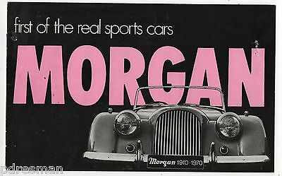 MORGAN REAL  SPORTS CARS - PLUS 8- 4/4 2 & 4 SEATER - 1970's SALES BROCHURE .