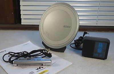 Sony D-EJ1000 PORTABLE CD PLAYER W/ ACCESSORIES MANUAL AC power charge dock