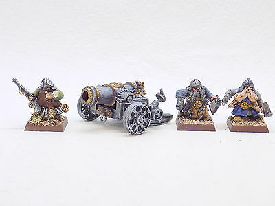 Dwarfs plastic DWARF GREAT CANNON and 3 CREW Superbly Painted 37900
