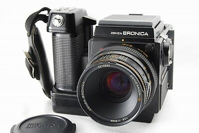 EXC+++! ZENZA BRONICA SQ-AM w/ WL Finder  ZENZANON-S 80mm F/2.8 From Japan #621