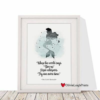 Disney Ariel The Little Mermaid  Word Art Print-Wall Art-Gift-Nursery-Quote