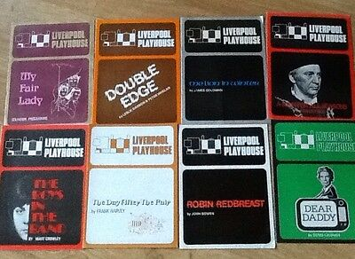8 1970s Theatre Programmes Liverpool Playhouse