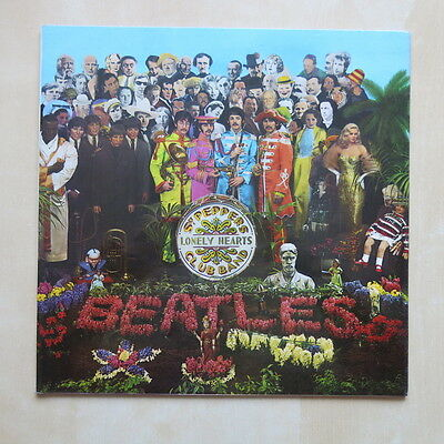 THE BEATLES Sgt Peppers UK one box EMI stereo vinyl LP with cut outs Parlophone