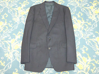 MAGEE of DONEGAL TAILORED PIN STRIPE TWEED SUIT MENS Jacket 44 Trousers 40 VTG