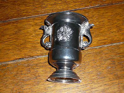 small silver plated urn