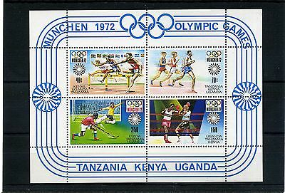 Tanzania/kenya/uganda.1972 Unmounted Mint Ms118 1972 Olympics On S/card