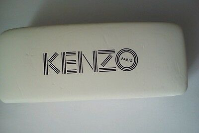 Used Genuine Kenzo Sunglasses Glasses  Hard Shell Case Holder Box With Cloth