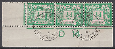 1914 1/2d green Pre-release off Cover; Manchester CDS; likely unique; NOT a'FDC'