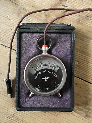 Antique Collectable radio voltmeter  LOVELY CONDITION