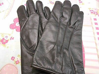 Mens Vintage Gloves With Button Fastening Size 8.5