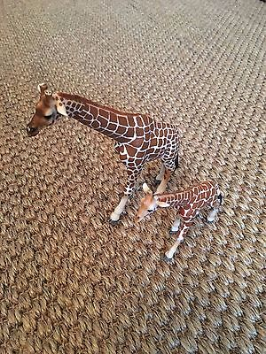 Schleich animal toys Giraffe mother and baby