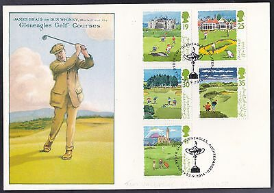 James Braid special card with Golf issue and special Ryder Cup postmark 2014