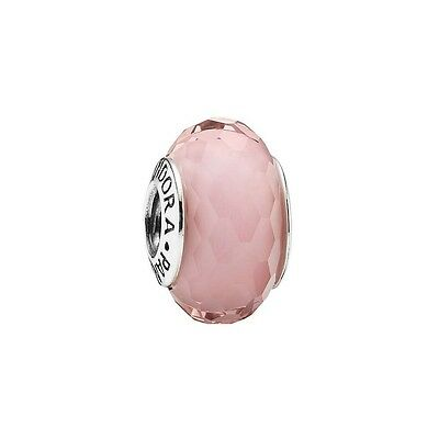 Pandora Genuine Murano Glass ALE 925 bead - PINK FACETED #791068